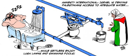 Israel_curbing_water_by_Latuff2